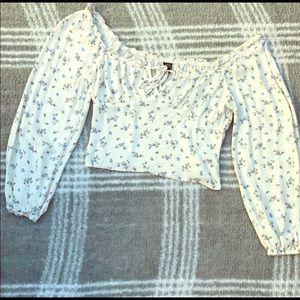 Vintage style floral blouse